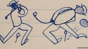Beckett golf doodle